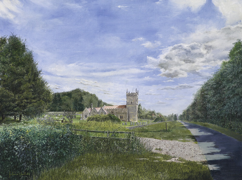 All Saints Church Brantingham, print at Myton Gallery, Hull