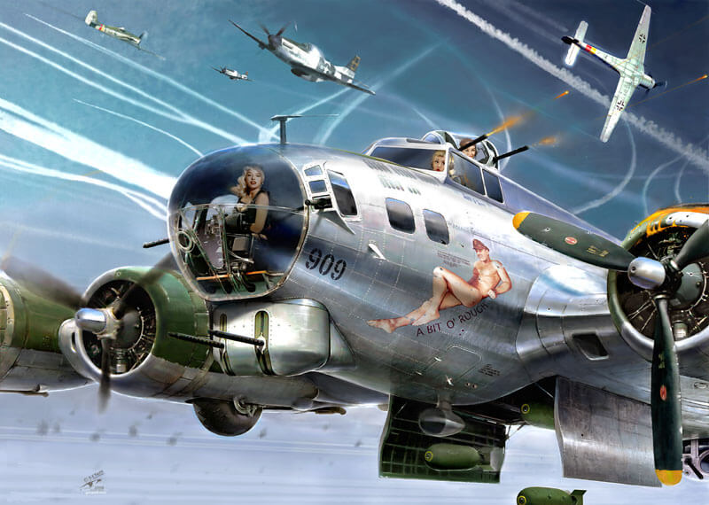 Flying Fortress B17 bomber picture by Gary Saunt