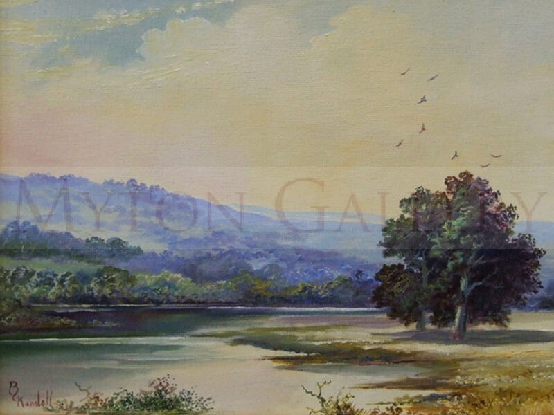 Wiltshire Landscape painting by artist Bruce Kendall