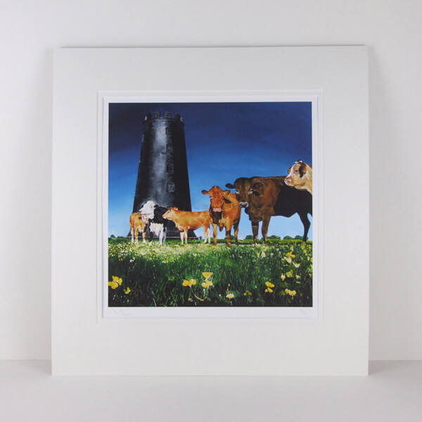 cows and black mill beverley westwood by martin jones mounted for sale