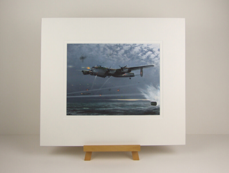 Lancaster Bomber bouncing bomb dambusters picture by Gary Saunt mounted for sale