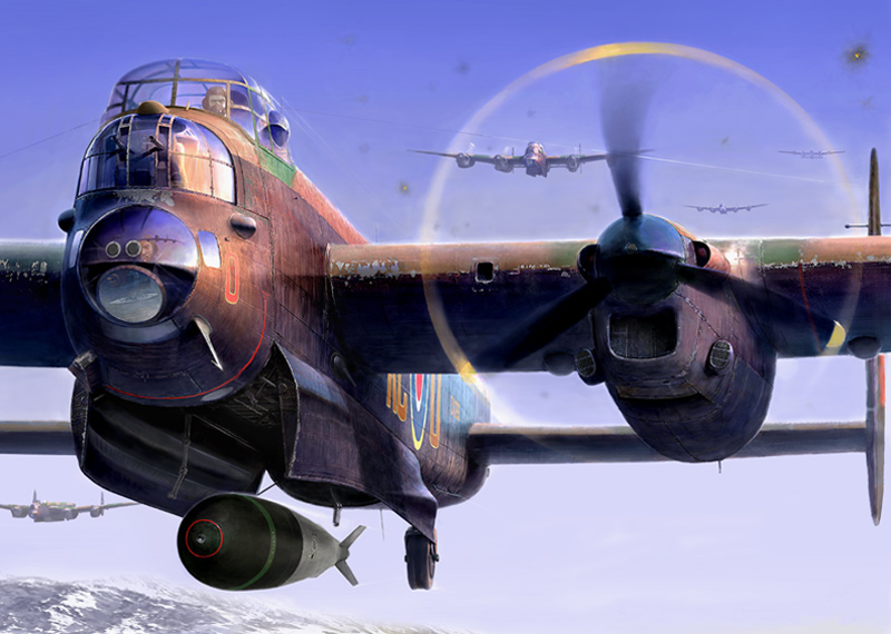 Dambusters Tirpitz Raid Lancaster Bomber aviation picture by Gary Saunt at Myton Gallery Hull