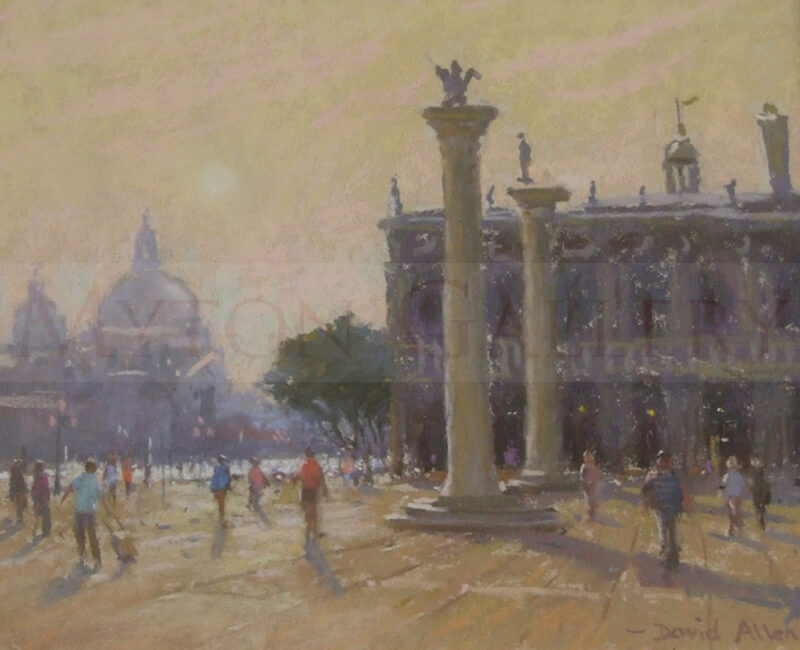 The Piazzetta, Venice original painting by david allen