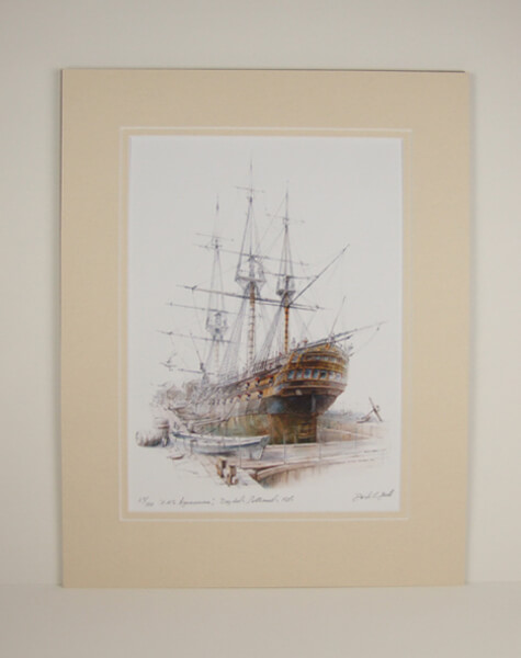 Agamemnon tall ship mounted for sale