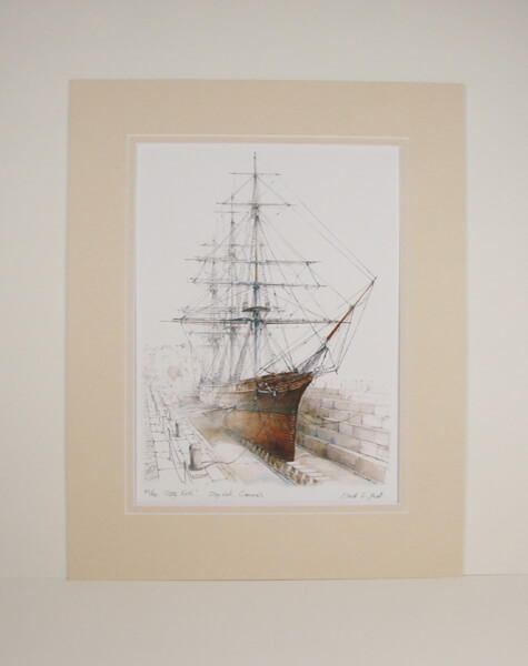 Cutty Sark at Greenwich tea clipper mounted for sale