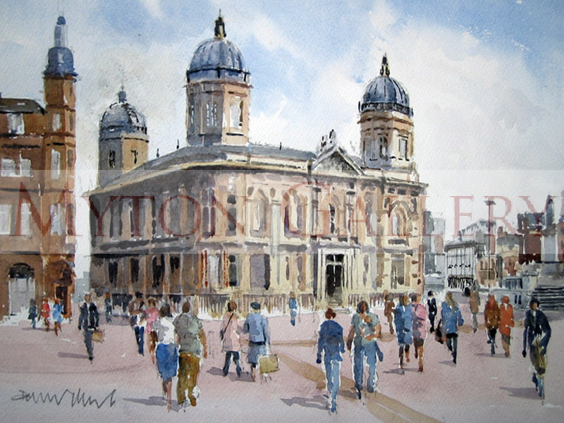 Dock Offices, Maritime Museum, Hull painting by artist David Work