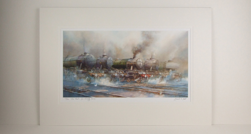 Flying Scotsman steam train locomotive picture by david bell mounted to buy