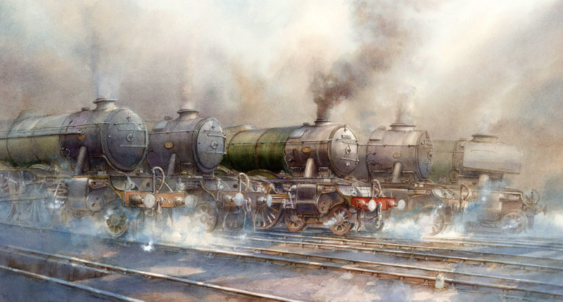 Flying Scotsman locomotive and other steam trains picture by david bell