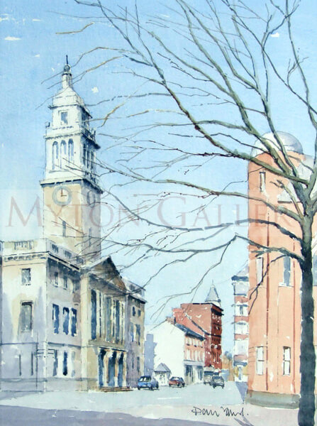 Guildhall, Hull painting by artist David Work