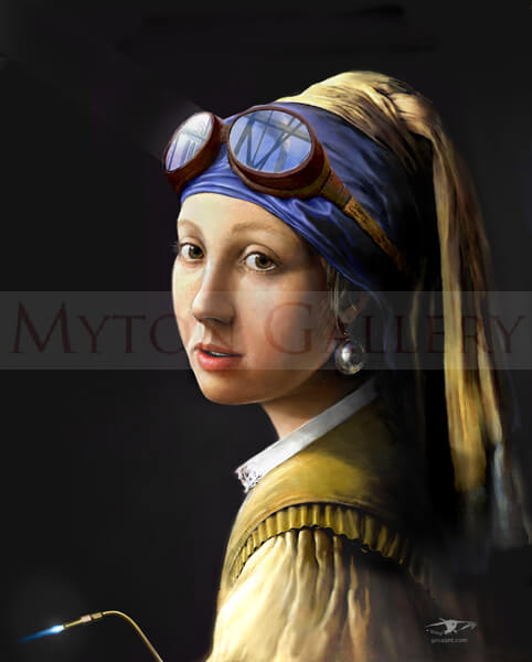 Girl With A Pearl Earring picture by artist Gary Saunt