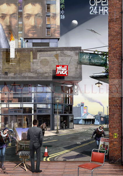 Hull Truck Theatre picture by artist Gary Saunt
