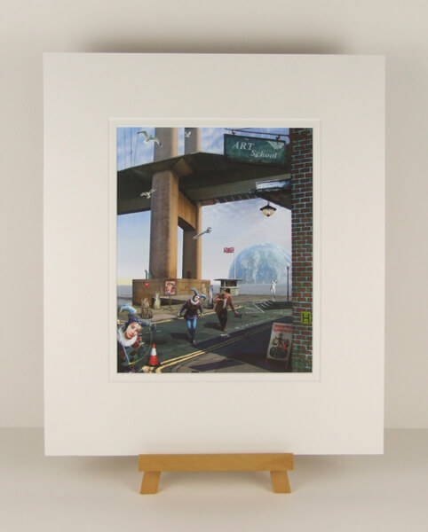 Humber Bridge Harlequin picture by artist Gary Saunt mounted for sale at myton gallery