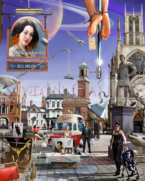 Trinity Square, Hull picture by artist Gary Saunt