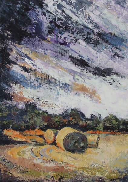 heather burton hay bales painting at myton gallery hull