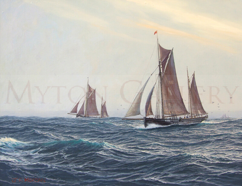 jenny-morgan-jm105-hull-sailing-trawlers-dawn-on-the-fishing-grounds-800