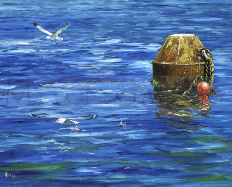 Whitby Mooring picture by artist John Brine