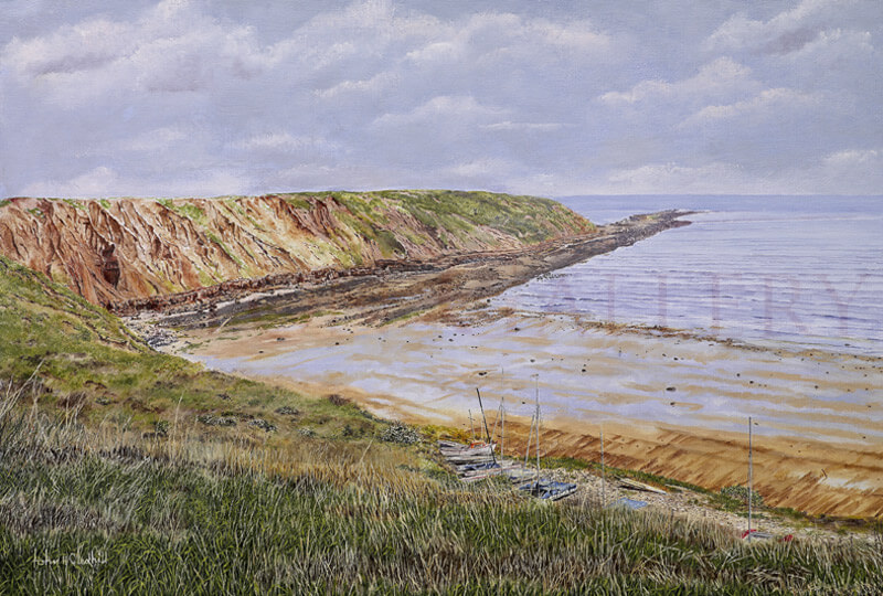 Filey Brigg, North Yorkshire picture by artist John Gledhill