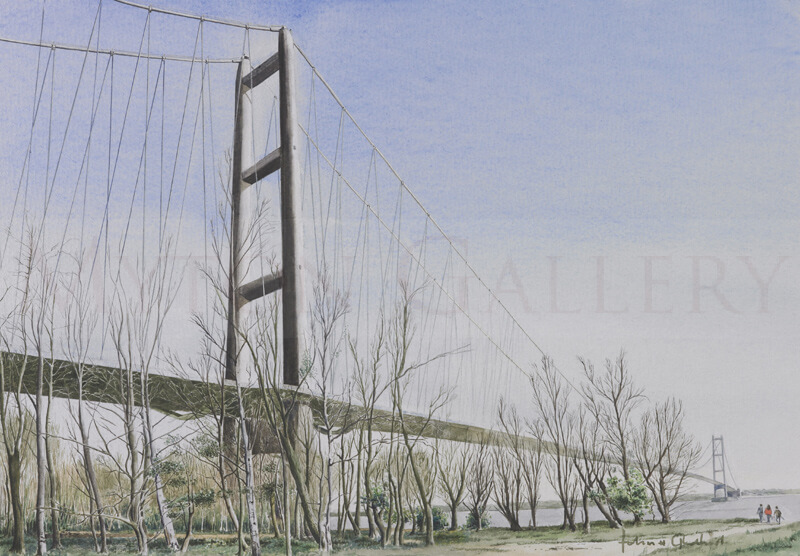 Humber Bridge North Tower original painting by artist John Gledhill