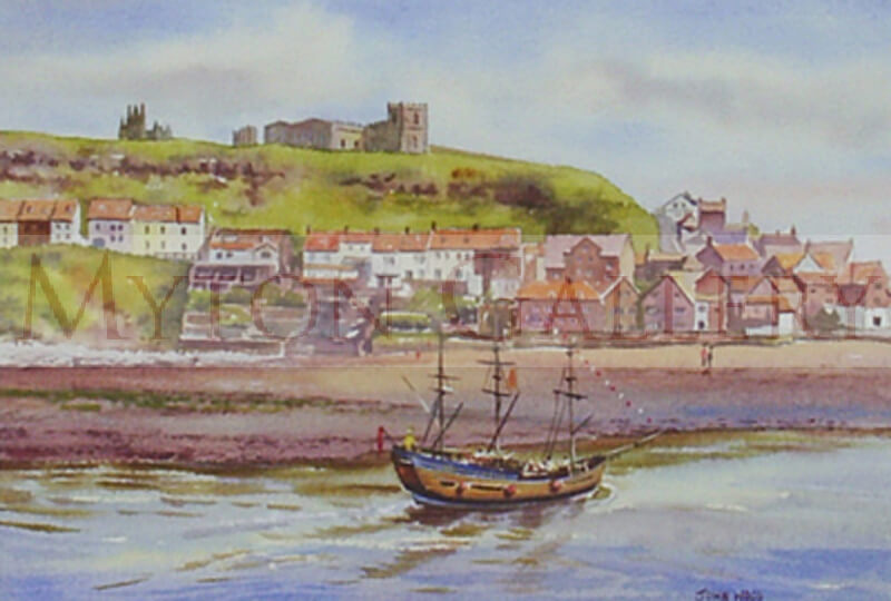 Whitby, North Yorkshire picture by artist John Wood
