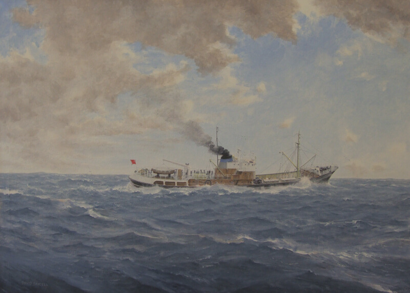 Hull trawler Joseph Conrad original painting by David Sandell