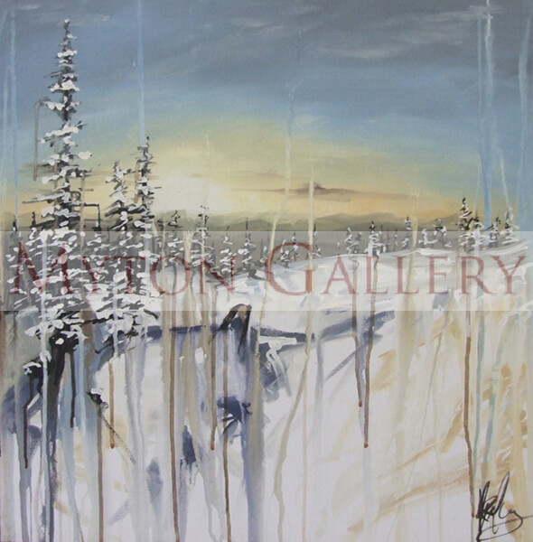 Winter Wonderland original painting by artist Kris Hardy