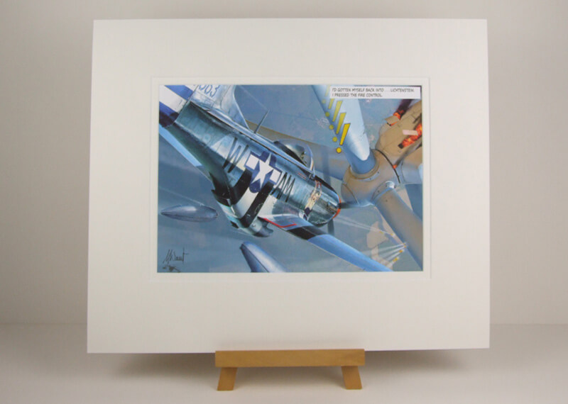 Mustang jet fighter plane picture by Gary Saunt mounted for sale