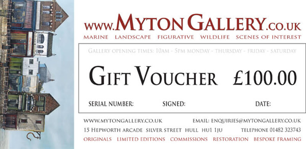 Art Gift Voucher at Myton Gallery, Hull £100