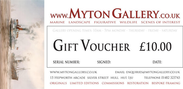 Art Gift Voucher at Myton Gallery, Hull