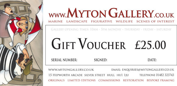 Art Gift Voucher at Myton Gallery, Hull, £25
