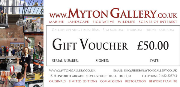 Art Gift Voucher at Myton Gallery, Hull, £50
