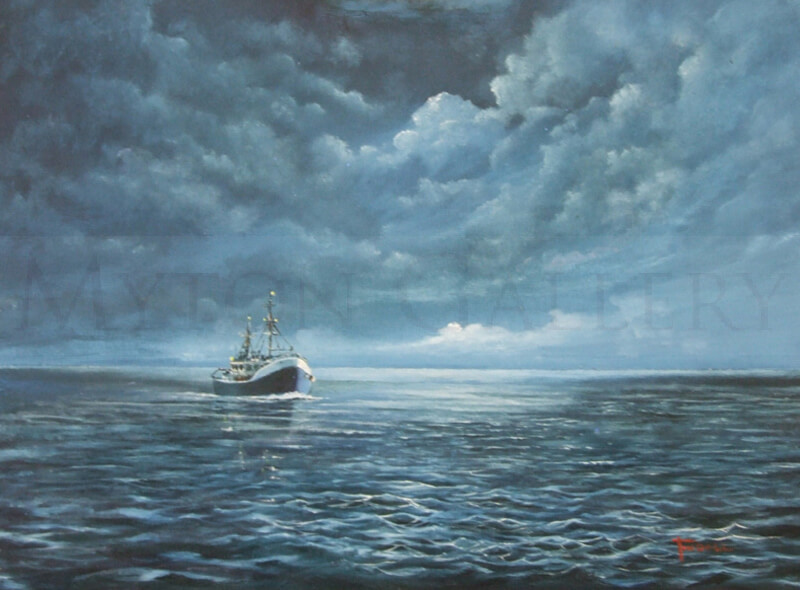 nick tindall night tide original painting
