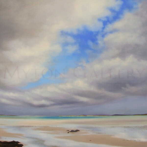 Outer Hebrides Seascape by Nicola Wakeling wet shore clachan sands