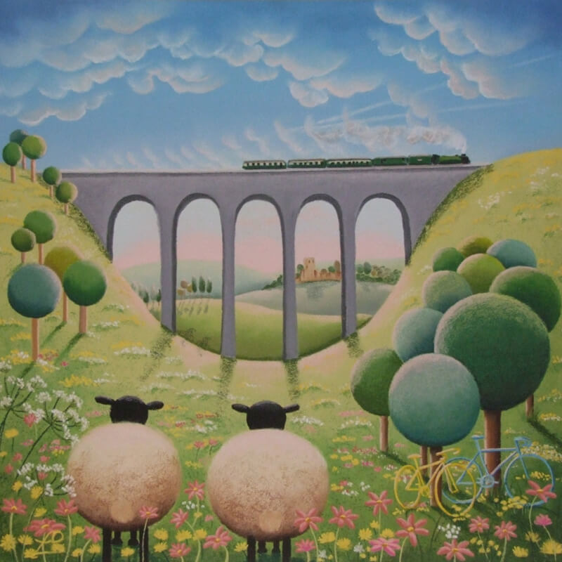 Racing Through The Valley, cycling print at Myton Gallery, Hull, East Yorkshire