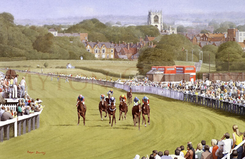 Beverley Races, East Yorkshire picture by artist Roger Davies