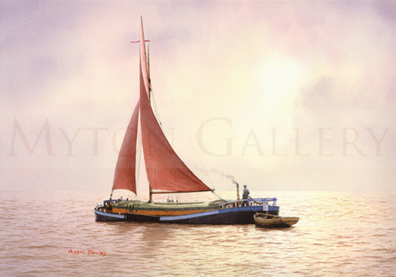 Humber Sloop picture by marine artist Roger Davies