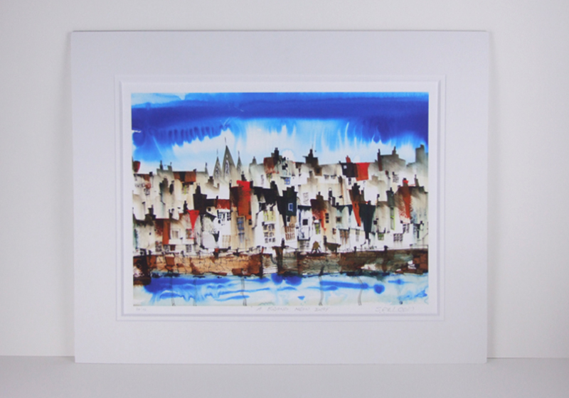 Sue Howells 'Brand New Day' mounted print new release at Myton Gallery, Hull