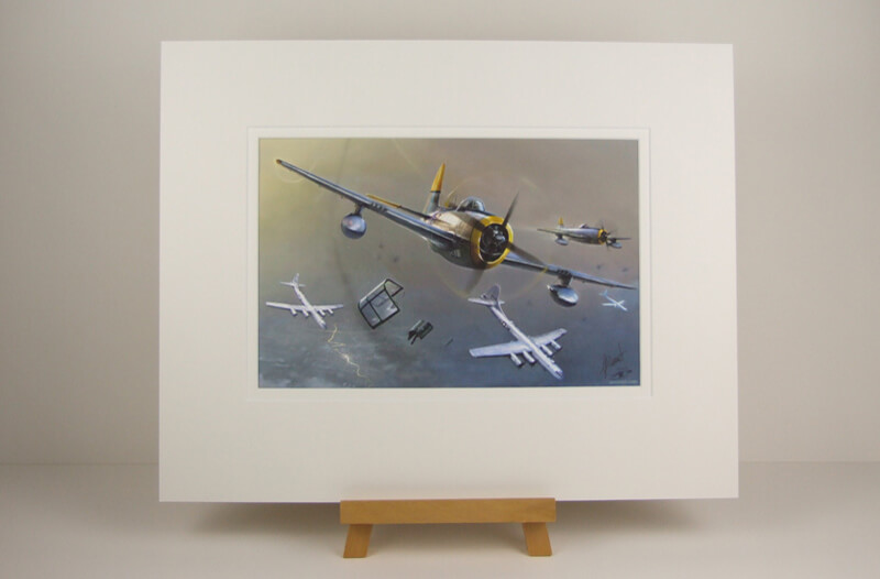 Thunderbolt plane picture by Gary Saunt mounted for sale