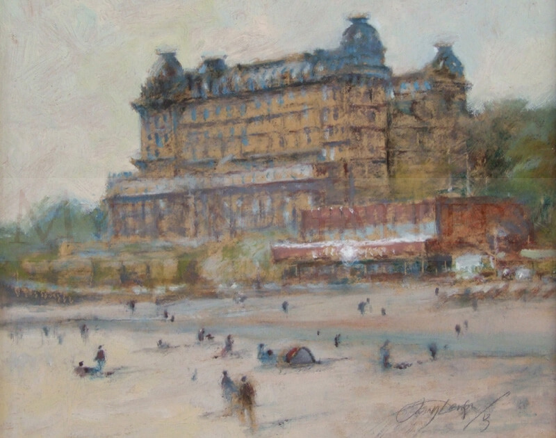 The Grand Hotel, Scarborough original painting by artist Tony Denison